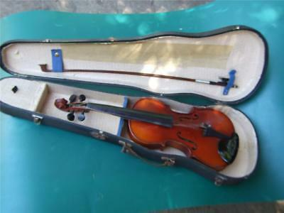 Vintage British 1/2 Size  Violin - Label- Signed - Cased   1920' Estate  Find