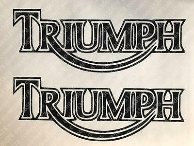 x2 Triumph Vinyl Decal Sticker Motorbike Tank Car Van