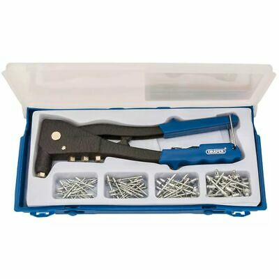 Draper Tools Rivet Gun Set Hand Riveter Kit Riveting Pliers Tools Blue 27843