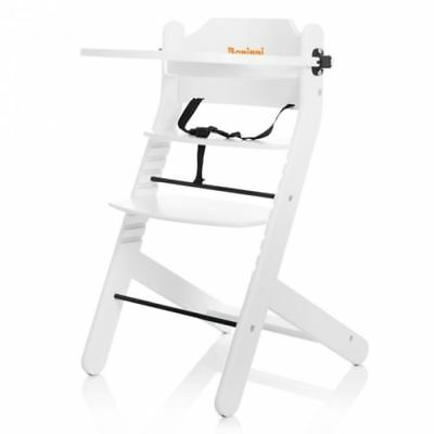 Baninni Baby/Child/Toddler Feeding High Chair Adjustable Dolce Mio BNDT003-WH