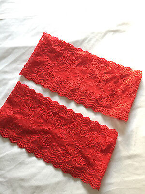 BANDELETTES / NEW (NWOT) / ANTI CHAFING THIGH BAND / RED LACE  / SIZE 62cm