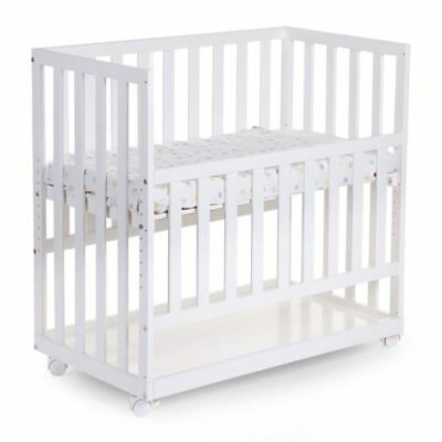 CHILDWOOD Bedside Crib Baby Crib First Bed Sleeping 50x90 cm Beech White BSCNWI