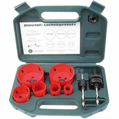 Brüder Mannesmann Eight Piece Hole Saw Cutter Set Wood Metal Plastics HSS 44100