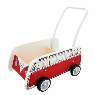 Hape Kids Children Baby Classical Bus T1 Walker Wooden Activity Toy Red E0379