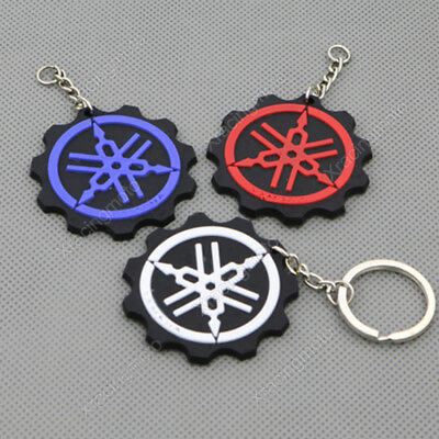 Motorcycle Rubber Keyring Keychain Key Chain Ring For YAMAHA YZF Cool Gift