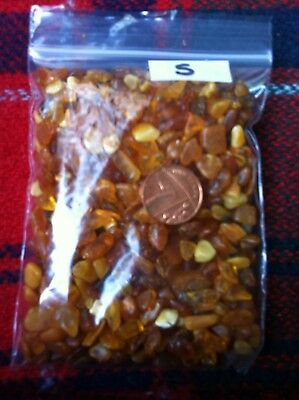 C.60 Gms Natural Raw Baltic Amber In Small Pieces - Crafts, No. 5 (Double Pack)