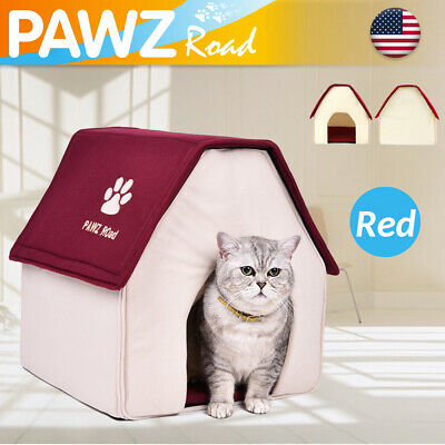 Puppy Cozy Cushion Pet Dog Cat Bed House Nest Igloo Pad Portable Dog Kennel Cave
