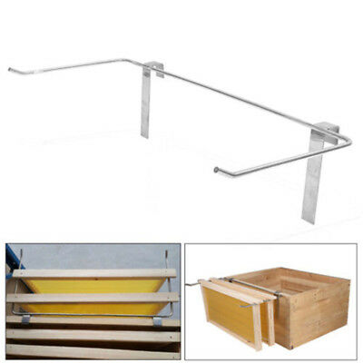 New Sliver Stainless Steel Beekeeping Frame Holder Bee Hive Perch Durable 47.5cm