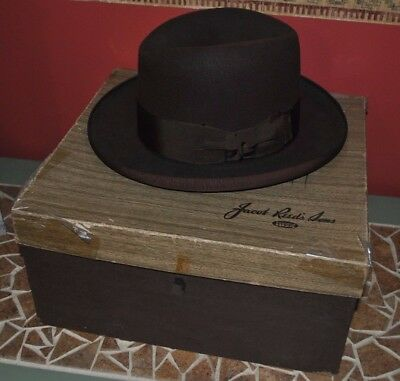 Vtg Knox Fifteen Jacob Reed's Son 1950's Men's Hat with original box!+More