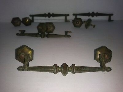 Antique Hardware set of 4, brass Neoclassic drawer pulls handle