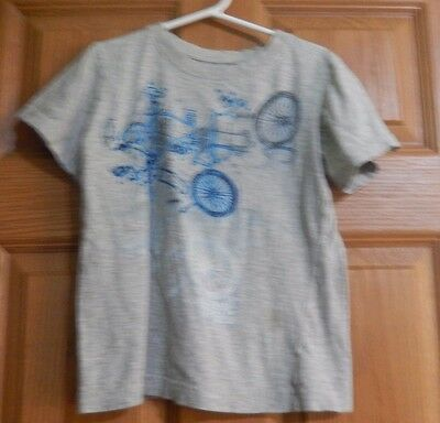 Gray top boys with Bicycle and parts by Levi Short Sleeve
