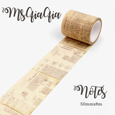 Washi Paper Tape Masking DIY  Sticker Roll Adhesive Gift idea 5cm x 8M