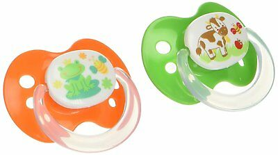 Playtex Silicone Orthodontic Binky Pacifiers, Newborn, 0-6 Months - 2 Pack May