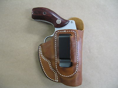 S&W REVOLVER J Frame 2 Clip IWB Leather Concealed Carry Holster CCW