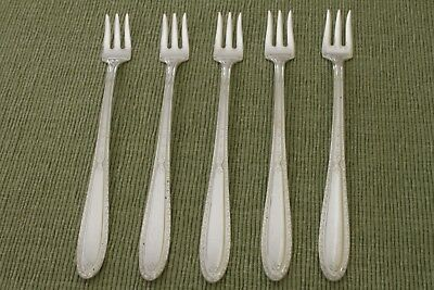 """ISABELLA Silverplate U.S.A. 5 COCKTAIL FORKS 6"""""""