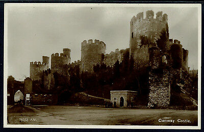 Early Real Photo Postcard - Conway Castle Caernarvonshire Wales