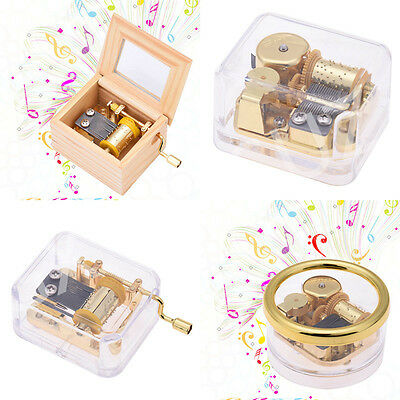 Eight-tone Melody Music Box Hand-cranked/Clockwork Sankyo Musical Movement Gift