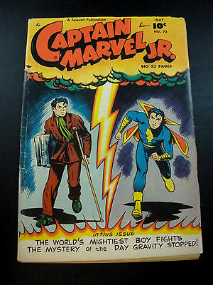 Golden Age Comics Captain Marvel Jr. Junior #73 GD/VG 1949