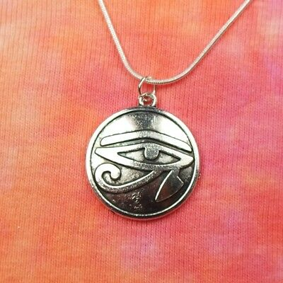 Eye of Ra Necklace, Egypt Egyptian Wadjet Udjat Hathor Horus Charm Pendant Gift