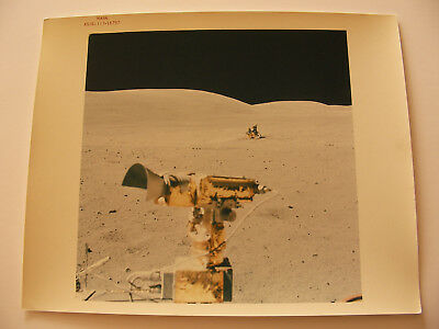 "Apollo 16 LM LRV EVA 8x10 Red Serial # ""A Kodak Paper"" Vintage NASA Lunar Photo"
