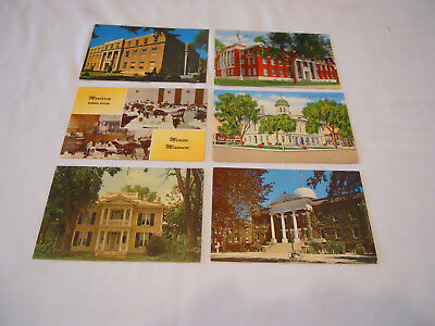 Missouri Mexico, MO Lot of 6 Vintage Postcards Various Scenes