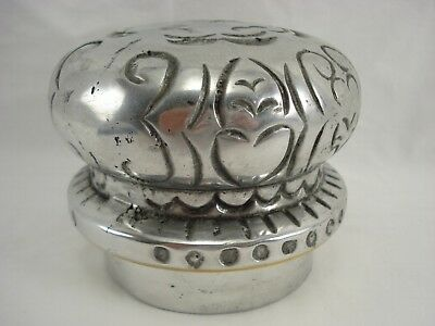 "Pewter Canister Lid 3 1/2"" diameter* Very Heavy * Possibly Wilton Armetale ??"