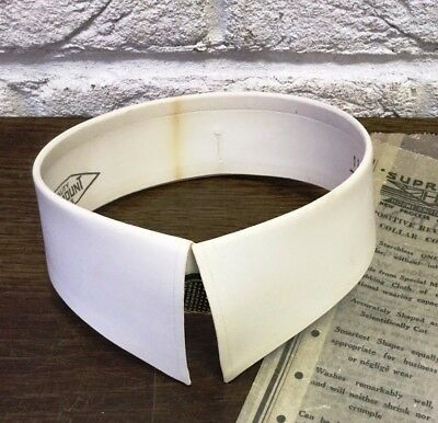 "Vintage Starched Detachable Collar *Paramount -116 - 15 1/2"" *Downton/Peaky Prop"