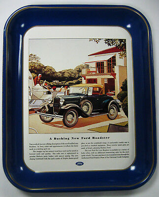 1976 Ford Antique Serving Tray - 1931 Ford Deluxe Roadster - 1931 Ford Ad - MT