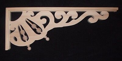"Victorian Wood Gingerbread { 23"" x 9"" } Porch & House Trim Bracket #69 ~ by PLD"