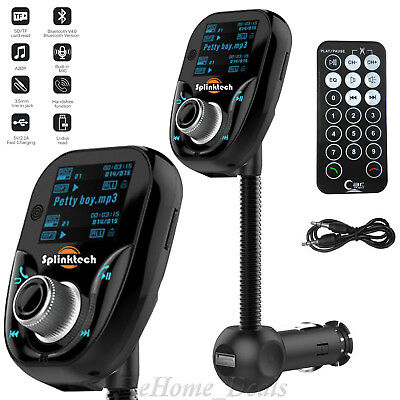 Wireless Bluetooth Car MP3 Player FM RadioTransmitter LCD SD USB Mobile Charger