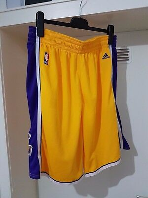NBA LA Lakers Trikot Hose Gelb in XL