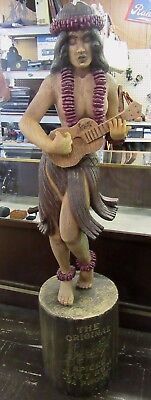 Sailor Jerry Spiced Rum Hawaiian Hula Girl Statue Display Life Size Local Pickup