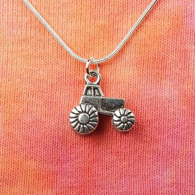 """Farm Tractor Necklace 16-36"""" Truck Trailer Charm Jewlery 3D - Modern Style, Gift"""