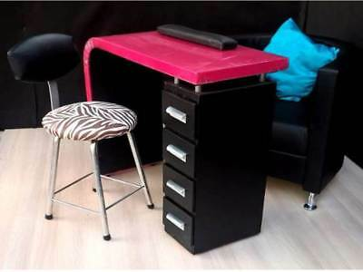 Deluxe Manicure Nail Table + Stool Chair Station Desk Spa Beauty Salon Equipment