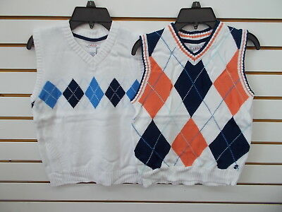 Boys IZOD $42 White Sweater Vests Size 8 - 18/20