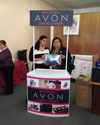 AVON Trade Show Counter Promo Promotion Table Pop Up Stand Kiosk + GRAPHICS