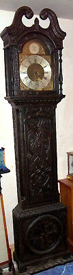 Bell Striking Longcase/grandfather Clock In Carved Effect Case. Looks Impressive