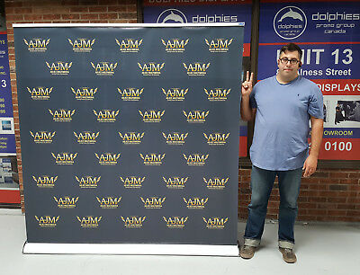"""80"""" Wide PREMIUM Retractable Trade Show Roll Up Banner Stand Sign + FREE PRINT"""