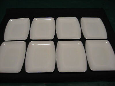 """Vintage Pan Am Airlines 6"""" x 4 3/4"""" White Plastic Snack Trays Lot of 8 NEW!"""
