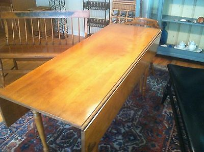 L. Hitchcock Maple Drop leaf table & 2 Dining Rroom Chairs Wood Set