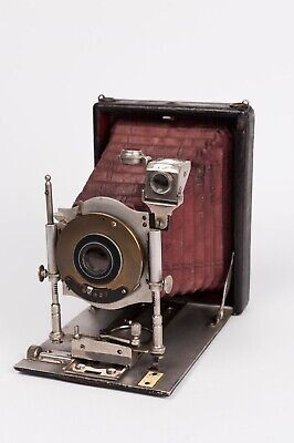 Folding plate camera 9x12cm unknown manufacturer red bellows