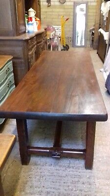 Antique French Solid Oak Farmhouse Table, 2 metre