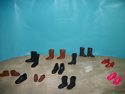 "Vintage 9"" to 12"" Action Figure mixed lot of shoes and boots lot 2"
