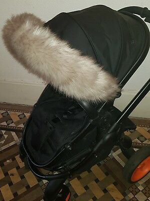 TAUPE faux fur hood trim-icandy/bugaboo/stokke/my babiie/egg/quinny/M&P/joie