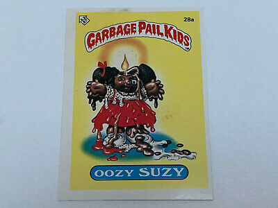 1985 UK Garbage Pail Kids 1st Series Card : 28a Oozy SUZY