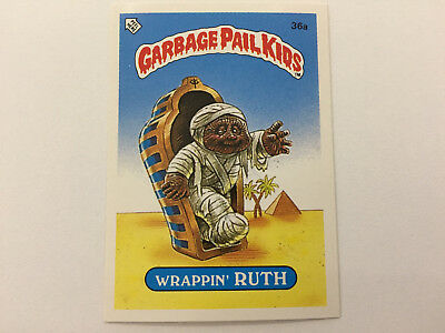 1985 UK Garbage Pail Kids 1st Series Card : 36a Wrappin' RUTH
