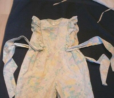 Vintage Mint Green  Little Girls Playsuit / Jumpsuit By Playdays  Age 2 / 3 Yrs