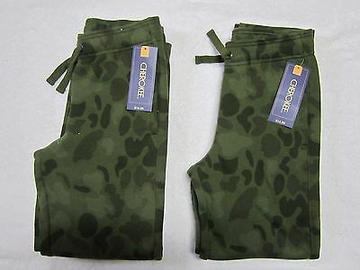 NWT (2 pairs) Boys Camouflage Fleece Pants, Size Medium 8/10 slim