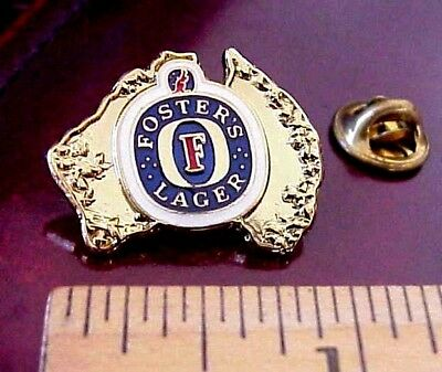 Foster's Fosters Lager Beer Australia Logo Advertising Promo Lapel Pin