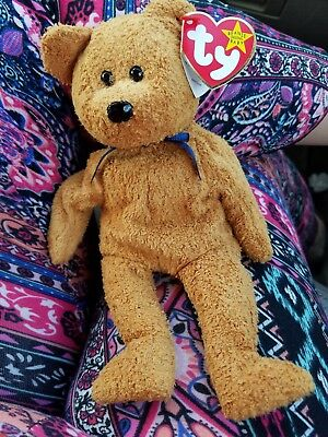 Very Rare Fuzz TY BEANIE BABY with 4 errors MWMT!!